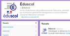 Page d'accueil Twitter eduscol