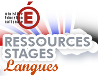 """Site """"Ressources stages langues"""""""