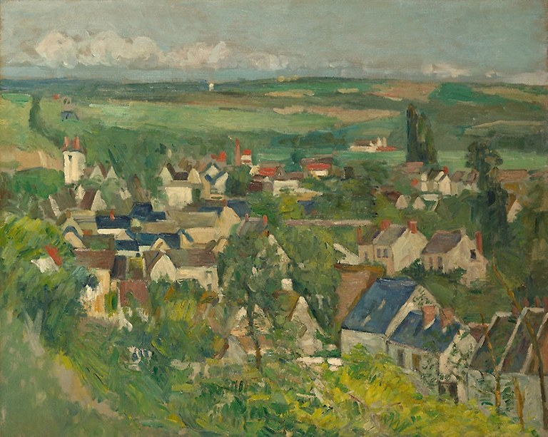 Paul Cézanne. Auvers, Panoramic View. 1873/75. Art Institute Chicago