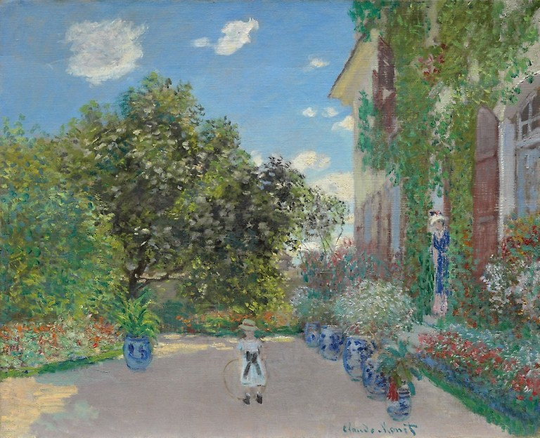 Claude Monet. Auvers, The Artist's House at Argenteuil.1873. Art Institute Chicago