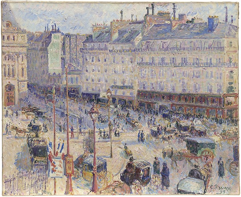 Camille Pissarro. The Place du Havre, Paris. 1893. Art Institute Chicago