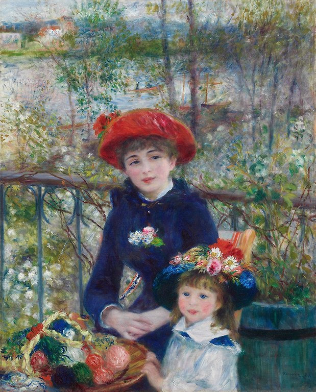 Pierre-Auguste Renoir. Two Sisters (On the Terrace).1881. Art Institute Chicago