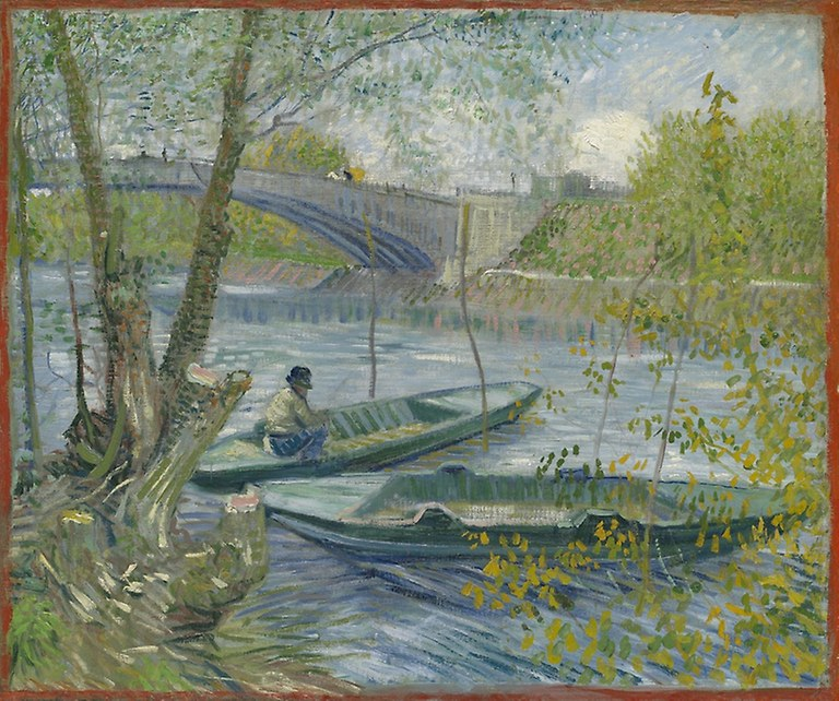 Vincent van Gogh. Fishing in Spring, the Pont de Clichy (Asnières). 1887. Art Institute Chicago